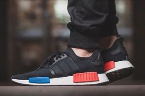 premium selection 545dd 865c5 Image is loading Adidas-NMD-OG-PK-Core-Black-Lush-Red-
