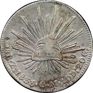 Mexico-8-Reales-Zs-1833-O-M-Zacatecas-Mint-KM-377-13