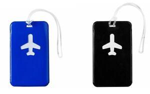 2-x-Kofferanhaenger-Gepaeckanhaenger-Namensschild-Anhaenger-Flugzeug