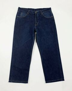 Lee-chicago-jeans-uomo-usato-W38-tg-52-denim-blu-straight-boyfriend-T6421