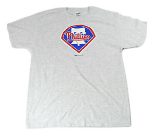 Mens-MLB-Stitches-Philadelphia-Phillies-Ash-Gray-Baseball-Shirt-NWT-M-L-XL