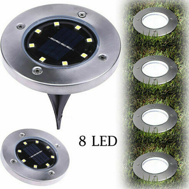 16 LED 2v Waterproof Solar Ground Ip65 Buried Light Outdoor Lawn Garden Lamp for sale online