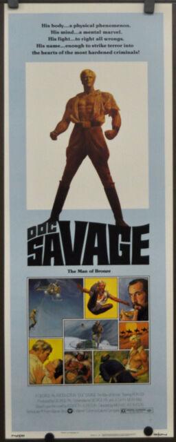 DOC SAVAGE:  MAN OF BRONZE 1975 ORIG 14X36  MOVIE POSTER RON ELY PAUL GLEASON