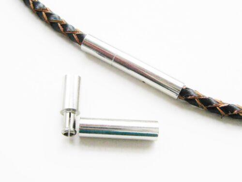 Acier Inoxydable baïonnette fermeture pour bandes 2 mm 3x18mm 1//10 Pièce serajosy