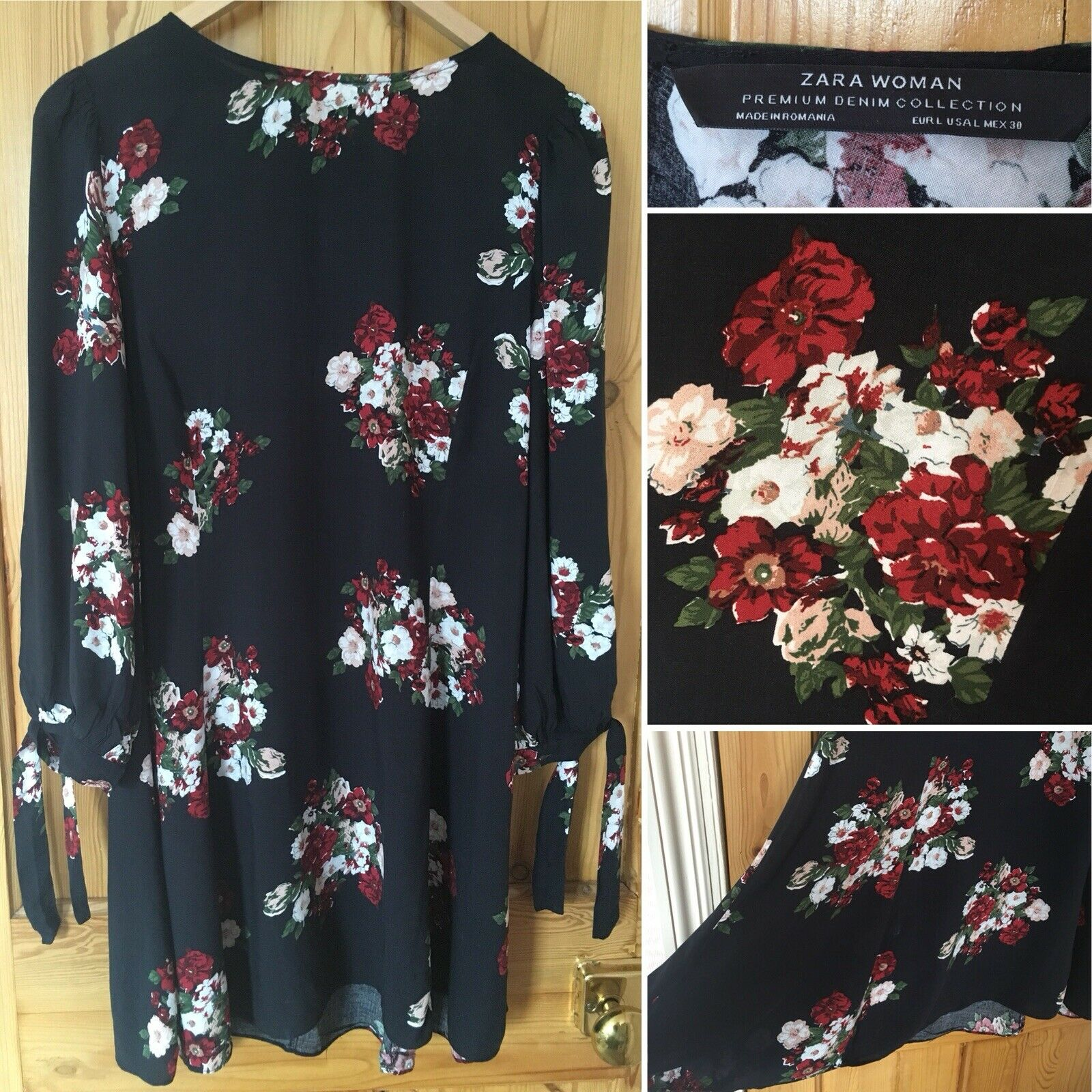 6e428350fc Zara Denim Floral Dress - raveitsafe