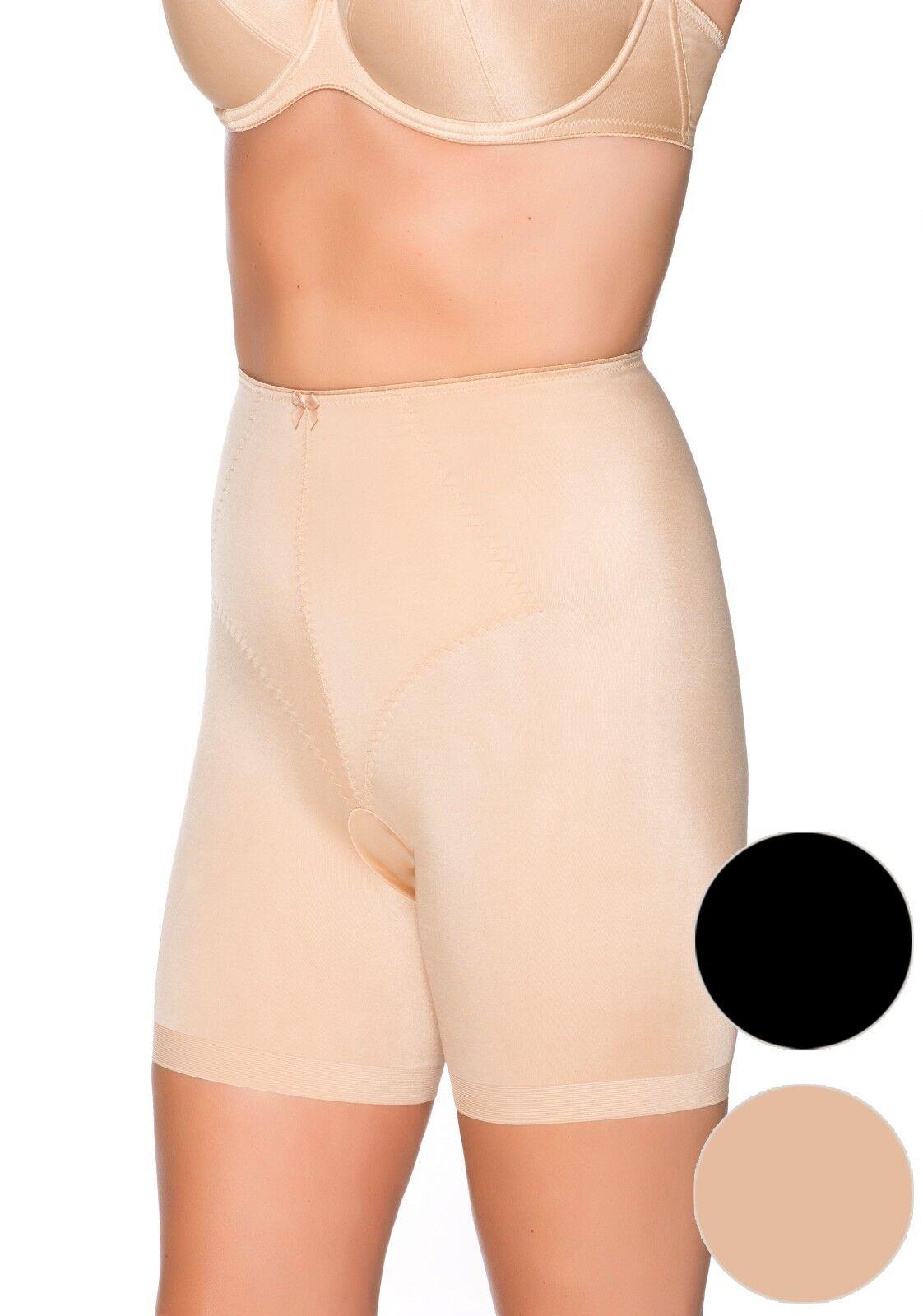 ULLA DESSOUS Miederhose avec jambe Yara peau NUDE Noir Figurine ForHommesd 3718