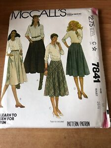 Gathered-Skirts-McCall-039-s-7841-Pattern-12-Chambray-Wool-Cotton-Flannel-Tweed-U-C