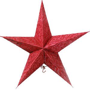 Stern-Papierstern-Weihnachtsstern-Leuchtstern-Lampe-Papier-Faltstern-Rot-32