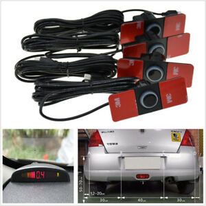 Details about Car Parking Sensor System Rear View Backup Radar Alarm Kit  16MM 12V Flat Reverse