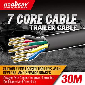 30M X 7 Core Wire Cable Trailer Cable Automotive Boat Caravan Truck ...