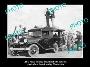 OLD-HISTORIC-PHOTO-OF-ABC-RADIO-VAN-AUSTRALIAN-BROADCASTING-COMMISION-1930s