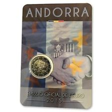 """**Andorra  2015 - BU Coincard """"25 jaar douane-unie""""- In Stock!. Schaars!**"""