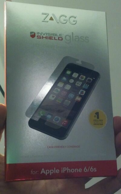 Zagg Invisible Shield Glass HD Clarity Screen Protection Apple iPhone 6/6s USA