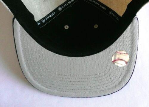 5532711c96a 4 of 7 NY NEW YORK YANKEES  47 Brand CAPTAIN Adjustable Snapback Hat Tan  Navy MLB