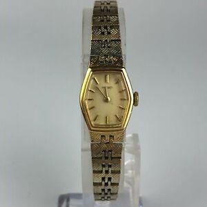Vintage-Seiko-Womens-1100-5329-Goldtone-Wind-Up-Stainless-Steel-Base-Metal-Watch
