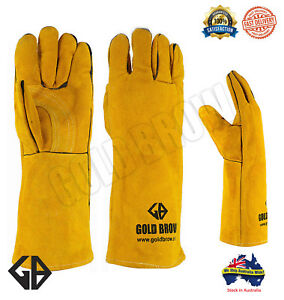 GOLDBROW-XL-Long-Welding-Gloves-Split-Leather-Cowhide-Protect-Welder-Hands