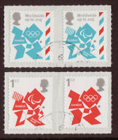 GREAT BRITAIN 2012 OLYMPIC GAMES DEFINITIVES SET OF 4 STAMPS FINE USED