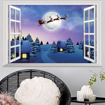 SANTA 2 CHRISTMAS STICKER WALL DECAL OR IRON ON HEAT TRANSFER LOT XSC