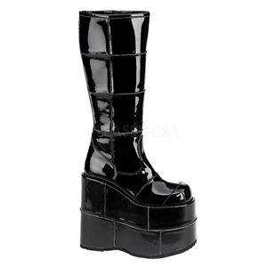 3e13309f394 DEMONIA STA301 B Men s Goth Black Platform Knee High Gothic Gogo ...