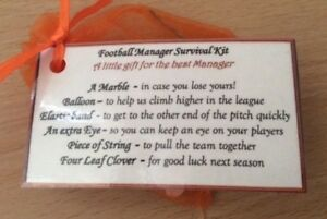 Image Is Loading Novelty Thank You Gift Football Manager Survival Kit