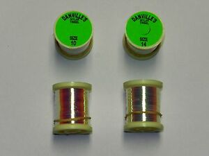 5 SPOOLS OF DANVILLE HOLOGRAPHIC TINSEL 20 YDS SIZE 14 FOR FLY /& JIG TYING