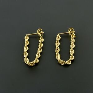 Image Is Loading 10k Yellow Gold 2 5mm Rope Chain Stud