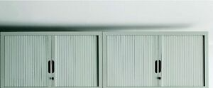 Armadio archivio basso anta a serrandina mis.110x45x105h col.grigio