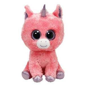 9047eacacd6 Ty Beanie Boo S Magic Pink Unicorn Plush Stuffed 8 Tall Sitting 2013 ...