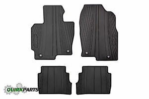 2013 2016 mazda cx 5 all weather black floor mats rubber 4. Black Bedroom Furniture Sets. Home Design Ideas