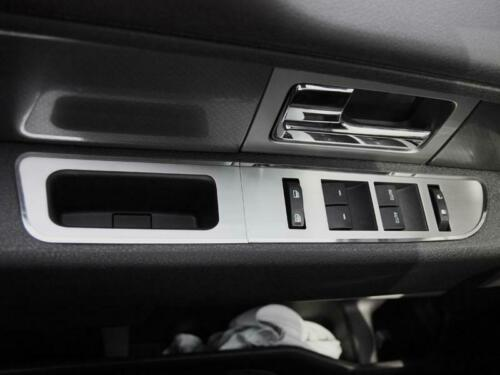 Brushed Stainless Steel Door Arm Control Trim for 2010-2014 Ford F-150 Supercrew