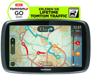 TomTom-GO-5000-M-Europa-Lifetime-HD-Traffic-Free-3D-Maps-EU-XXL-Tap-amp-Go-GPS-WOW