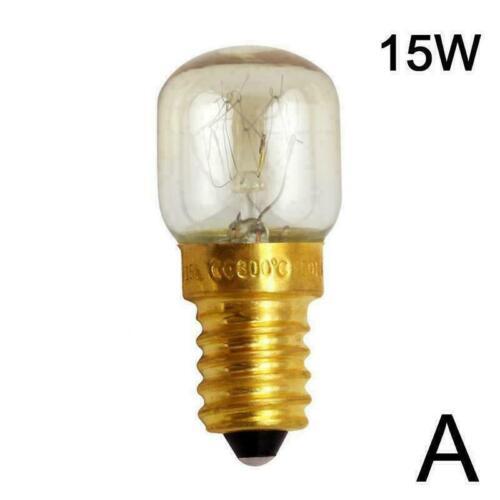 E14 15W//25W Warm White Oven Cooker Bulb Lamp Heat Resistant Light N6E9 V8B5