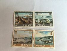 GUERNSEY SET MNH 1983 SG 273a & 275a EUROPA HARBOUR ST PETER PORT PAINTING