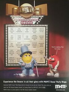 Vintage M M S Candy Oscars Party Bingo Full Page Color Ad Ebay