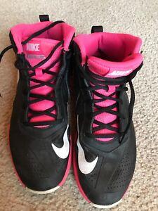 Black Pink Black Basketball Shoes Size
