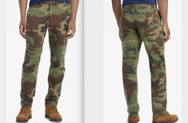 reasonably priced classic free delivery Size: 32-36 X 30-34 Polo Ralph Lauren Straight Camouflage Pants:  710653408017