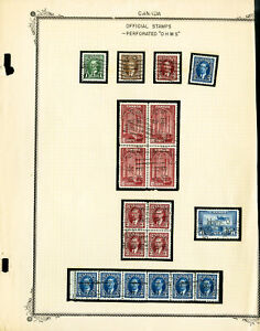 Canada-Scarce-OHMS-Perf-Stamp-Collection-Lot-of-29