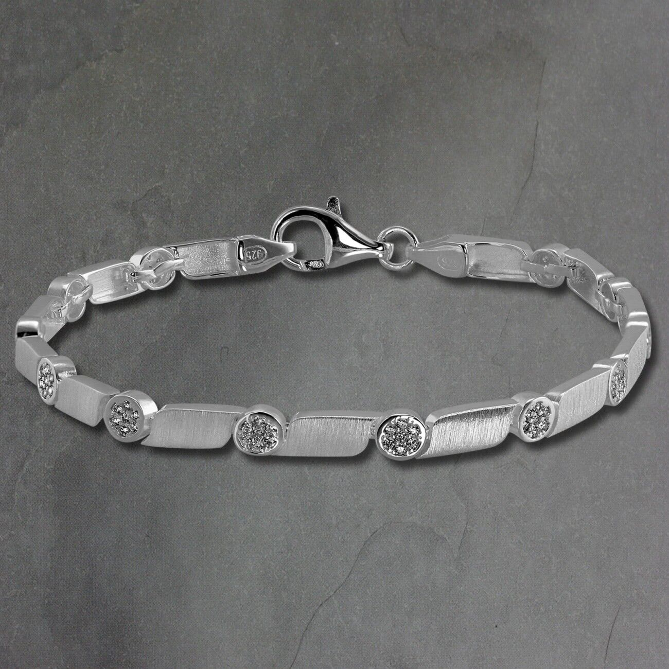 argentodream Bracciale Donna Donna Donna Fantasia argentoo 925 19cm Bianco Sda464w 55c3b1