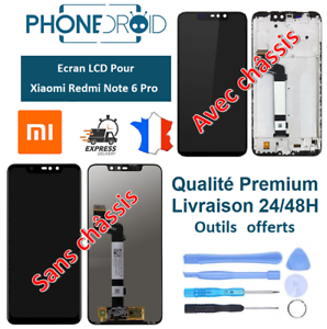 Ecran-complet-LCD-tactile-Xiaomi-Redmi-Note-6-Pro-Outils-stock-FR