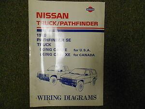 1989 nissan truck pathfinder wiring diagram service repair shop manual factory x ebay. Black Bedroom Furniture Sets. Home Design Ideas