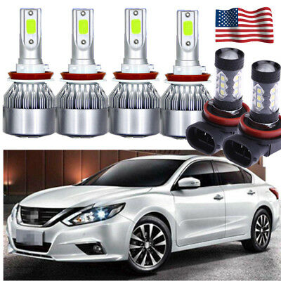 2x Light-Blue 80W LED Replacement Bulbs Fog Lights For Nissan Altima 2005-2018