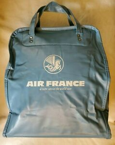 Vintage AIR FRANCE Sky Blue Carry-on Airline Travel Bag in Great Shape!
