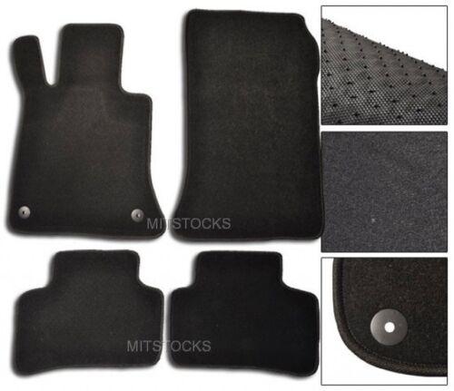 FIT FOR 2009-2015 MERCEDES BENZ X204 GLK BLACK NYLON CARPET FLOOR MATS 4 PIECES