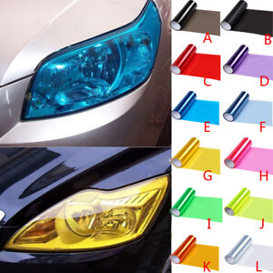 Auto-Car-Smoke-Fog-Light-Lamp-Headlight-Taillight-Tint-Vinyl-Film-Sheet-Sticker