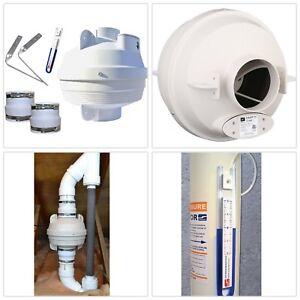 Suncourt Radon Hvac Mitigation Kit 4 In Fan Pvc Couplers
