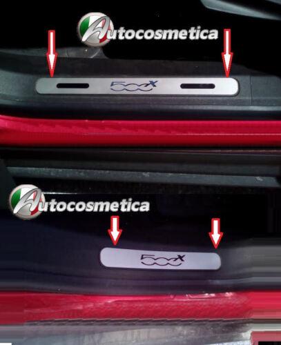 4 BATTITACCO IN ACCIAIO FIAT 500X CROSS PLUS 4X4 POP STAR PREMIUM MULTIAIR M+