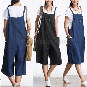 9cf8b97a7ff Image is loading ZANZEA-Vintage-Women-Spaghetti-Strap-Loose-Long-Pants-