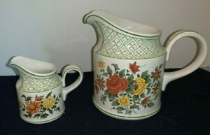 Set-of-2-Villeroy-amp-Boch-SUMMER-DAY-32-oz-PITCHER-and-CREAMER-Germany