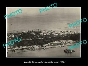 OLD-LARGE-HISTORIC-PHOTO-ISMAILIA-EGYPT-AERIAL-VIEW-OF-THE-TOWN-c1920-2