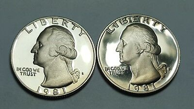 1979-S Washington Quarter Clad Proof Variety 2 Type 2